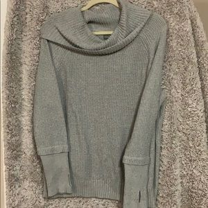 Market & Spruce Cowl Neck Sweater with thumb holes